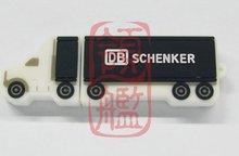 customize truck shape pen drive, promotional gift Van car shape PVC usb flash memory