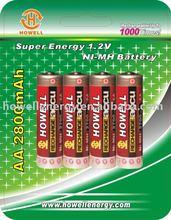 AAA 1000mAh digital battery/digital camera battery/digital video battery