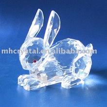crystal rabbit, crystal ornament MH-7111