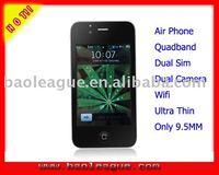 Ultra Slim Quadband Mobile Phone Dual Sim Dual Cell Phone Wifi+Bluetooth