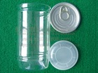 350ml plastic clear can