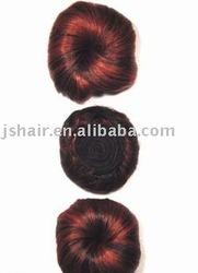 human hair bun