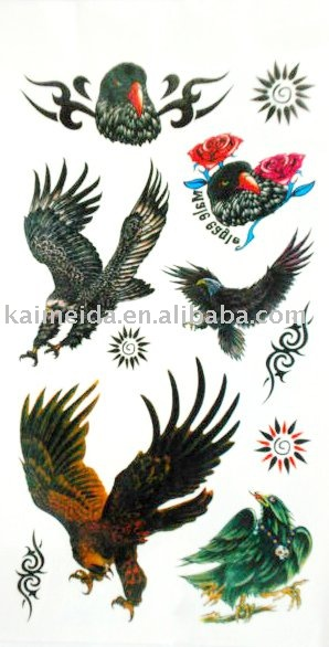 See larger image: Eagle Design Body Water Tattoo. Add to My Favorites.