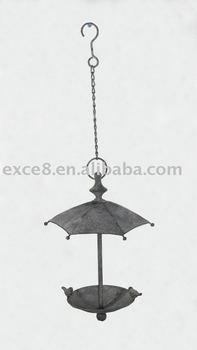 Metal Finch Bird Feeder w/Umbrella Cover