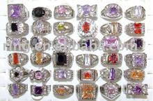 Colorful Large zircon&rhinestone of men's Rings