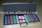 1000pcs clay poker chip set