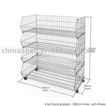 Wire Galvanized Stack Bin