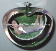 lovely apple shape crystal image