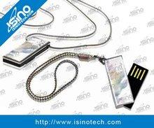 Twister Mini USB Flash Drive with Key Chain, Free Logo Branding