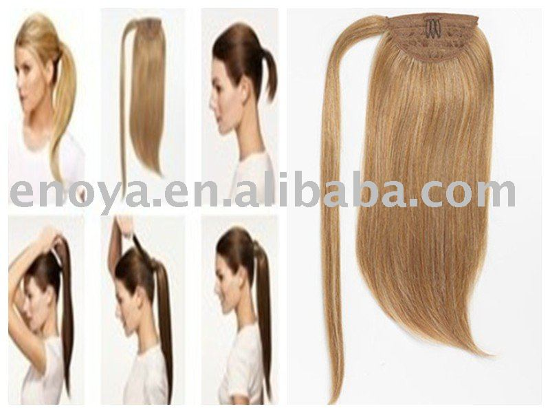 Human Hair Pieces Ponytails 45