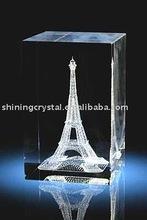 building 3D laser crystal