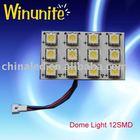 12-SMD 5050/5060 PCB Universal Dome/Room/Interior Car LED Light Bulb