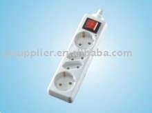 2+2 GS/CE Schuko socket/German socket with switch
