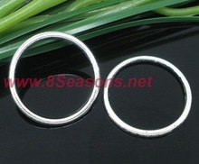Silver Tone Soldered Closed Jump Ring 24x1.7mm Findings