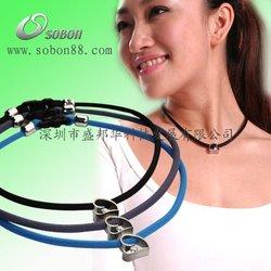 Fashion Charm Health Negative Ion Sports Silicone germanium titanium necklace