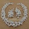 silver grape beads ball bracelet&earring set &s33