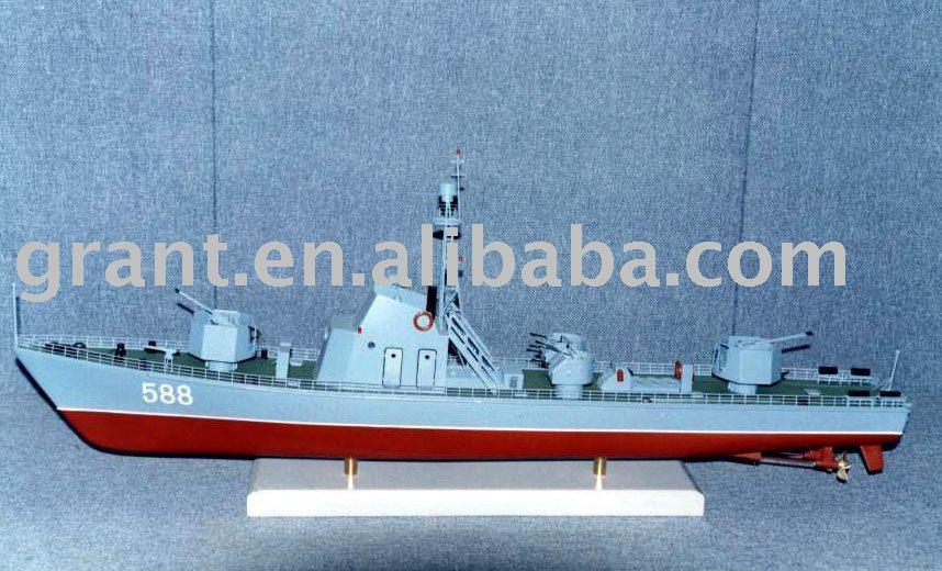 Cañonera modelo / gunvessel modelo / icebreaker modelo de barco / modelo escort modelo de vaso / moto torpedo modelo de barco / mosquito - arte del modelo