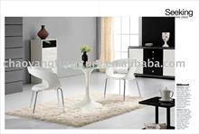 2015 Modern Fiberglass Furniture With Tempered Glass(B028)
