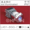 LAS1-BGQ dot illuminated push button,led pushbutton switch,push button switch