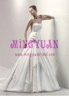 A-line appliqued Boutique organza 2012 bridal gown