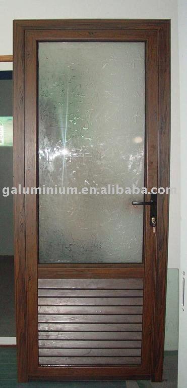 Laminas De Aluminio Para Puertas De Baño:Aluminio puerta del baño puerta con obturador-Ventanas