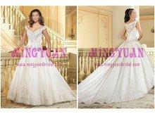 ek112 Best Satin Off-Shoulder Bride Wedding Dress
