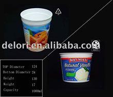 Disposable PP Ice cream Container (FDA SGS certification)