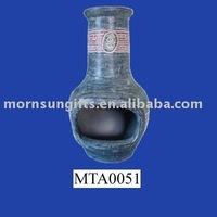 terracotta outdoor chiminea