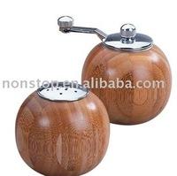 Bamboo Salt and Pepper Grinder Set