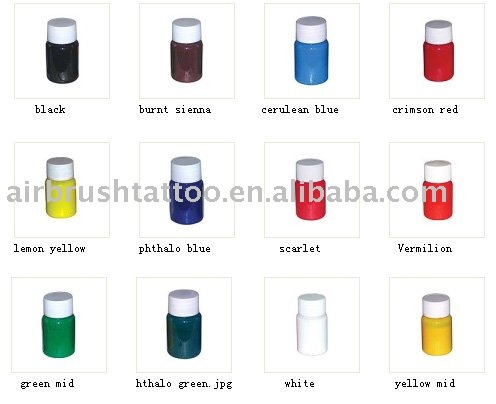 tattoo paint- pearly color products, buy temporary airbrush tattoo