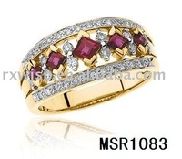 Jewelry Fashion Wedding Giveaways Ring With Ruby crystal