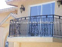 ornamental elegant wrought iron galvanized balcony railing