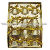 yiwu fashions Christmas cross bell with ribbon