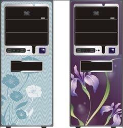 3D front panel computer case