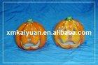 Ceramic Halloween pumpkin decoration candle holder