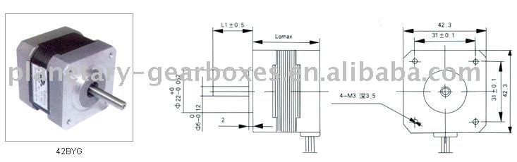 42BYG series hybrid stepping motor,Micro motor