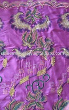satin with 5mm+3mm sequence fabric