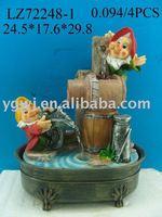 polyresin indoor fountain gnome water fountain