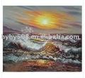 100% pintadas à mão da paisagem do mar pintura a óleo