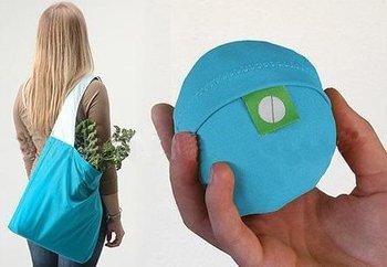 fashion fold ball shopping bag