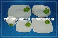 20pcs square dinner set/fine porcelain dinnerware(110-088)
