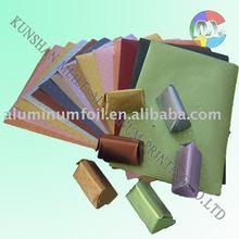 Pre-cut aluminum foil wrapper in colorful design