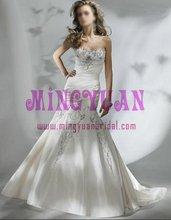imported satin beaded elegant bride wedding dress 2010 ek265