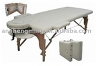 2section white folding massage bed
