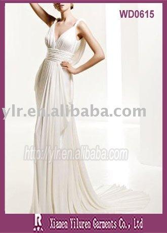 2010 Classic Look Greek Style Bridal Wedding DressWD0615