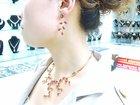 set necklace 18K gold jewelry