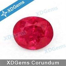 China Blood Oval Cut Red Man Made Ruby Corundum