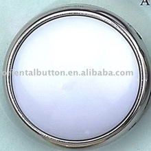 Nickel free nylon and abs combination button