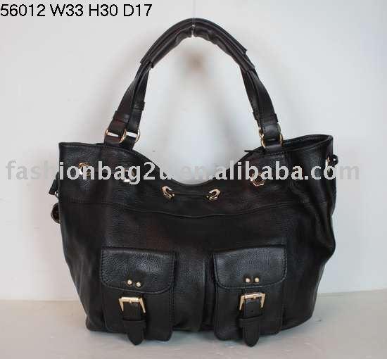 negro bolsas de cuero de las mujeres
