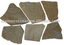 beige quartzite&slate crazy cut tile